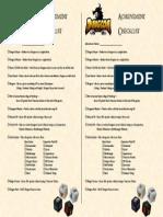 Dungeon Roll Achievement Checklist