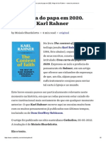 Uma Carta Do Papa Em 2020. Artigo de Karl Rahner — Www.ihu.Unisinos