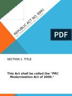 Republic Act No. 8981