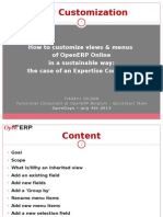How to customize views menues of openerp online in a sustainable way