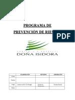 PLAN DE PREVENCIÓN DE RIESGOS