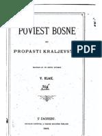 Vjekoslav Klaić - POVIJEST BOSNE DO PROPASTI KRALJEVSTVA