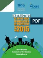 Instructivo para la formulación de proyectos 2015
