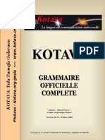 Official grammar of Kotava