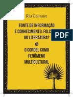 Livro Ria Lemaire
