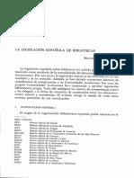 Dialnet-LaLegislacionEspanolaDeBibliotecas-969130
