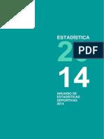 Anuario de Estadisticas Deportivas 2014