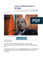'South Africa is Not a Xenophobic Nation' a Letter From Jacob Zuma