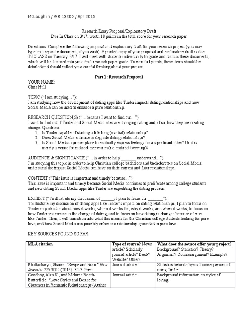 dating research paper