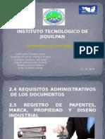 2.4 REQUISITOS ADMINISTRATIVOS  DE LOS DOCUMENTOS  2.5 REGISTRO DE PAPENTES, MARCA, PROPIEDAD Y DISEÑO INDUSTRIAL
