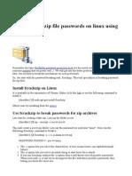 How to Crack Zip File Passwords on Linux Using Fcrackzip