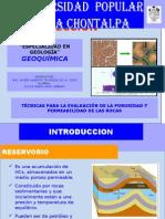 presentaTÉCNICAS PARA LA EVALUACIÓN DE LA POROSIDAD Y PERMEABILIDAD DE LAS ROCAS