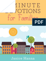 3-Minute Devotions for Families by Janice Thompson - Excerpt