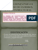 Diapositivas e Instrucciones Para El Doblado de Estribos en Las