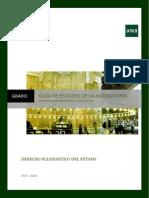 Guia Grado Derecho Eclesiastico Del Estado 2013 2014