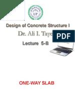 Design of One-way Slab