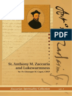 St . Anthony M. Zaccaria and Lukewarmness  by Fr. Giuseppe M. Cagni, CRSP