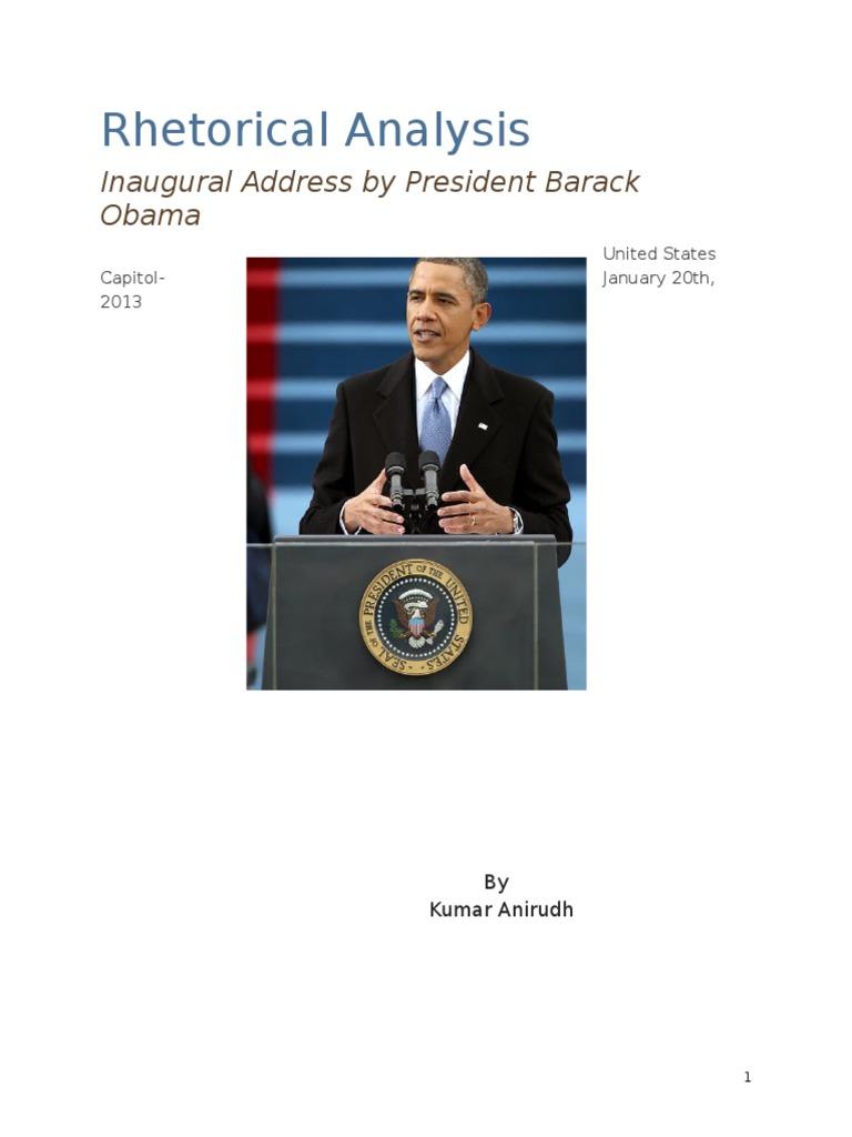 Rhetorical Analysis of Barack Obamas Inaugural Address