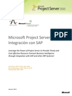 Microsoft Project Server 2010 Integration With SAP SP