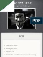 Anonimität