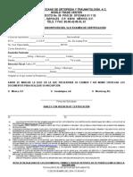 Solicitud Inscripcion Para El Xliv Examen de Certificacion