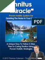 Tinnitus Miracle Scam PDF eBook Book Free Download Thomas Coleman