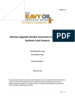 Bitumen Upgrader Residue Conversion to Incremental Synthetic Fuels Products