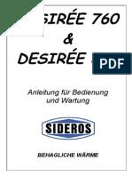 Betriebsanleitung Desirée Küchenherd
