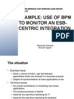 Use of BPm to monitor an ESB-centric integration