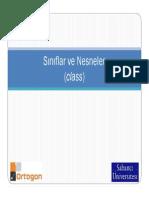 C++ Ders6 - Siniflar ve Nesneler