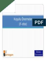 C++ Ders4 - Kosullu Onermeler