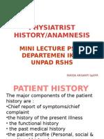 Anamnesia Fisiatris Rehab
