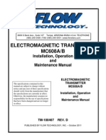 Flow Technology Tm Mc608 Magnetic Flow Transmitter