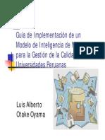 OtakeLuis Modelo de Inteligencia Gestión Universidades Peruanas