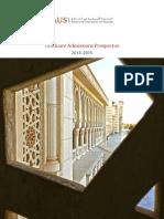 Graduate Admissions Prospectus 2014 15