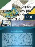 Optimización de Operaciones Por El Método Whittle 3D