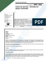 NBR 14606 Entrada Em Espaço Confinado