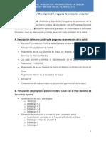 Unidad de Aprendizaje I Descripción Del Programa de Promoción a La Salud