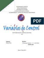 Unidad I - Tema 3 Variables de Control - CAD
