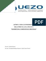 Relatório aula pratica Química Geral teórica.doc