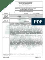 1. Estructura Curricular - Tecnólogo en Procesamiento de Alimentos