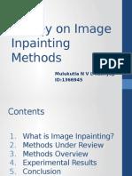 Image Inpainting Methods