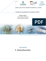 Primer Informe de Institucionalidad Economica 2013 Presentacion