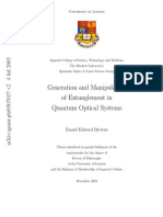 Daniel Edward Browne_ University of London-Generation and Manipulation of Entanglement in Quantum Optical Systems-University of London (2004)