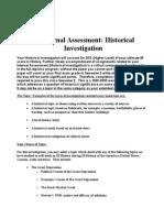 Historical Investigation Format 2012-2013