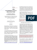 Government Access to Data in the Cloud (1)