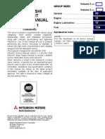 Mitzubishi Sercive Manual Vol1