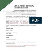Publica en El Fondo Editorial Tierra Adentro
