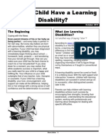 do my child have a learning disability