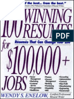 100 Winning Resumes for Top Jobs
